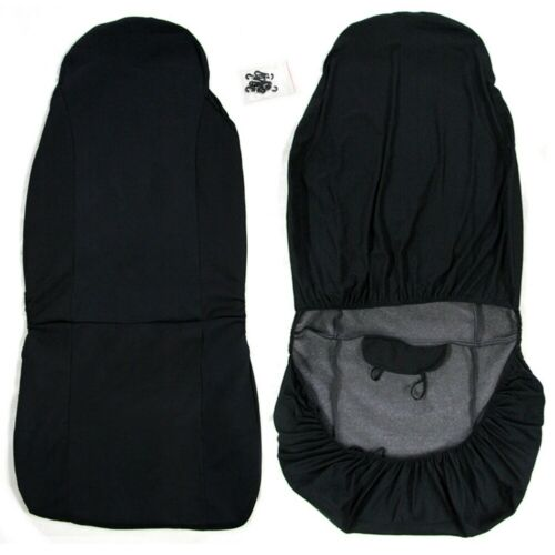 Universal Front Car//Van Seat Covers Protectors Black Waterproof Heavy Duty