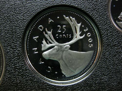 2005 Canadian Silver Proof Quarter $0.25