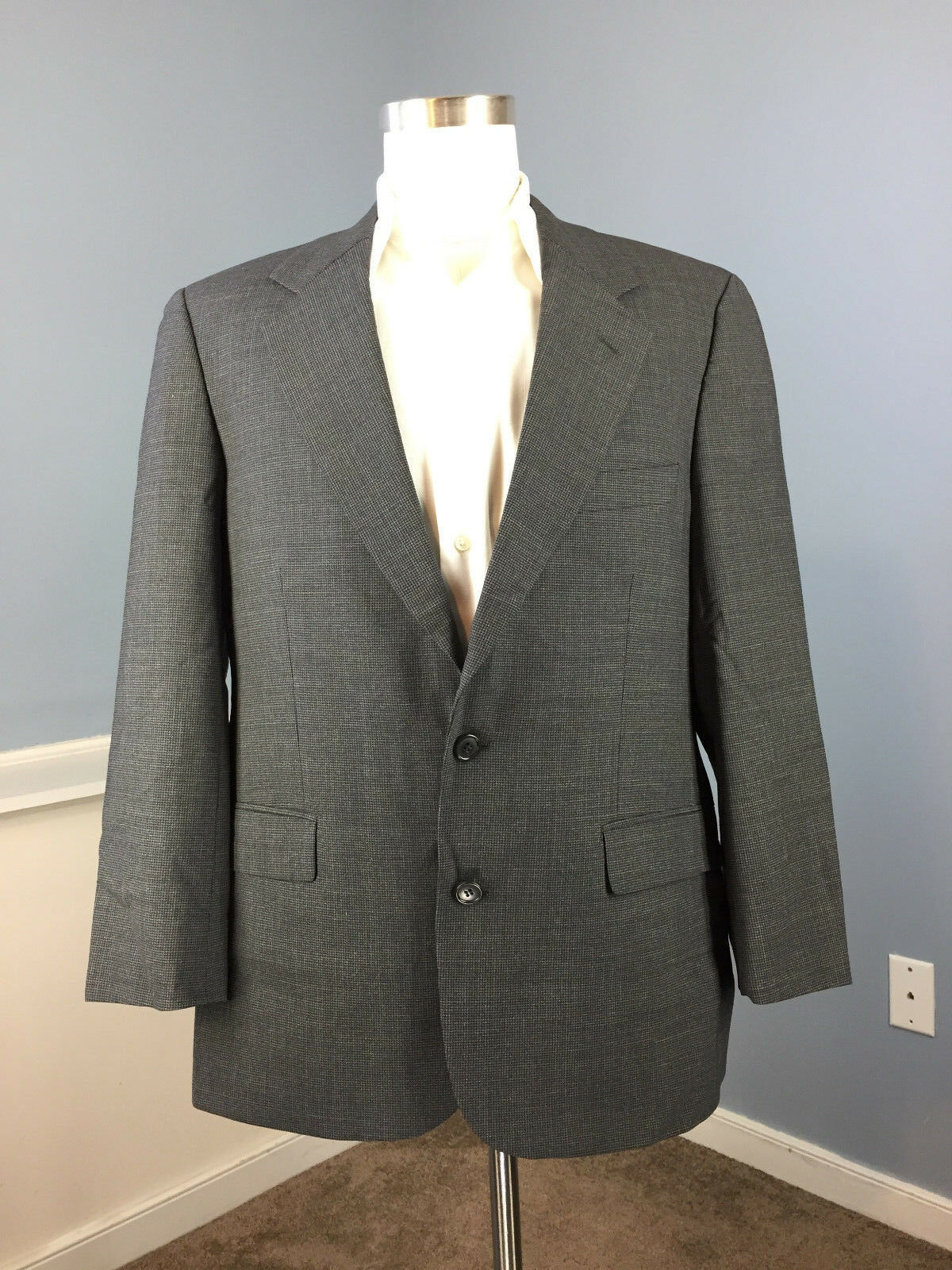 Brooks Brothers Brooksease Charcoal grau Suit 40 S Wool blend 36 W Excellent