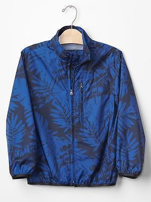 Boy/'s GAP Cozy Packable Windbreaker Jacket Printed Ripstop Windbuster BNWT