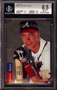 1993-Upper-Deck-SP-Foil-280-Chipper-Jones-HOF-Atlanta-Braves-BGS-8-5-NM-MT-HOT
