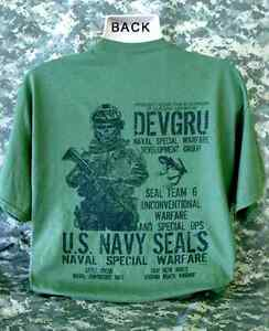 Details about U S Navy Seals T-Shirt Skull Skeleton Seal Team 6 Six Special  Ops DEVGRU New