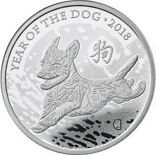 1 Ounce Silver Proof Lunar Year of the Dog 2 £ UK 2018 Royal silber Hund