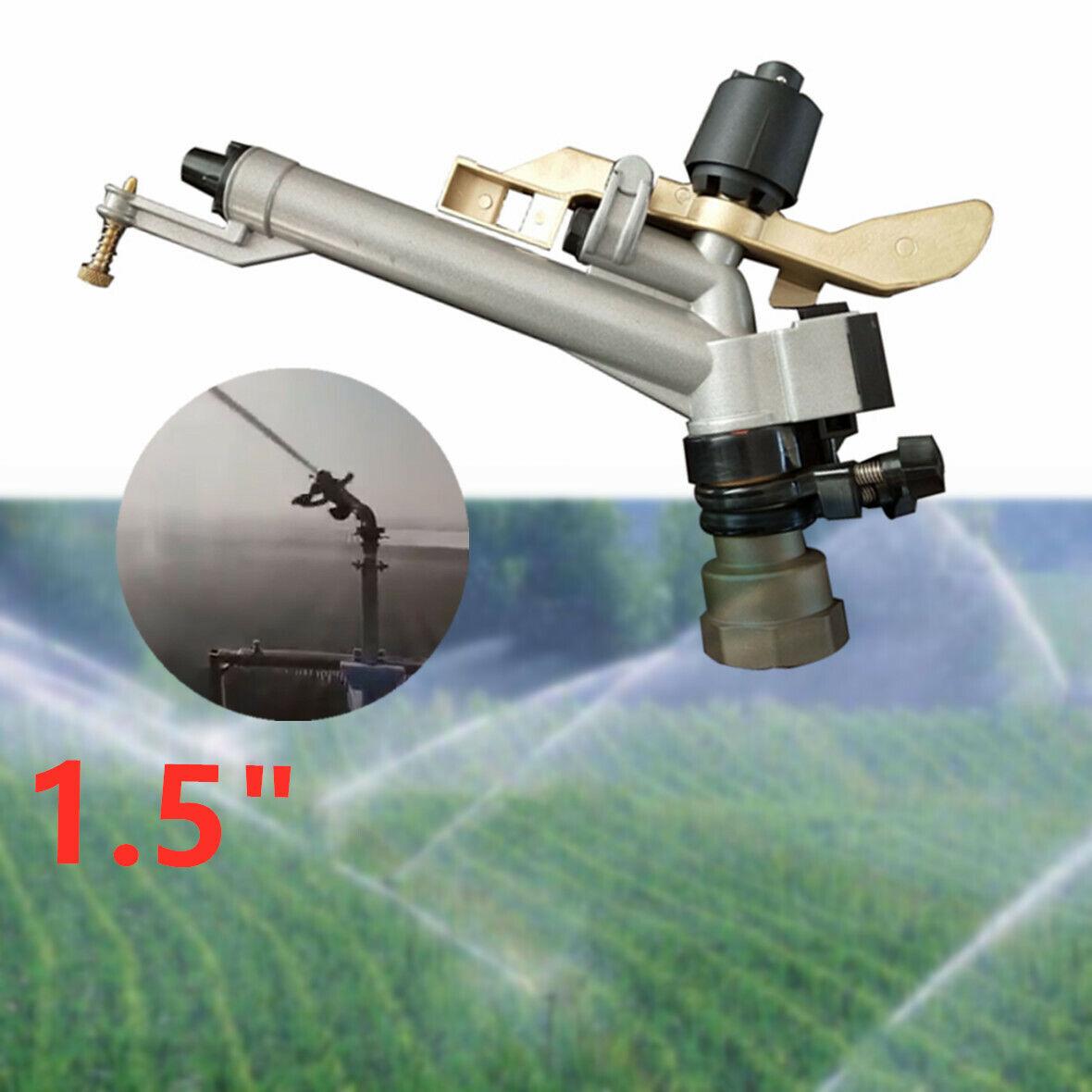 1.5  30M 360 ° Ajustable Aspersor impacto herramienta de aerosol de agua de riego de área grande