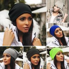 Men Women Winter Warm Unisex Knit Ski Crochet Slouch Hat Cap Beanie Hip-Hop Hats