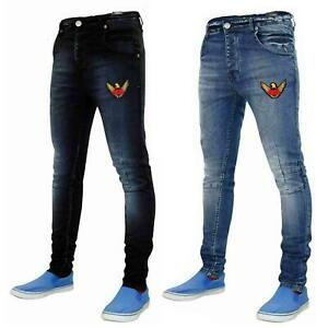 New-Mens-Skinny-Jeans-Stretch-Slim-Fit-Denim-Pants-Trousers-Bottoms-Sizes-28-40