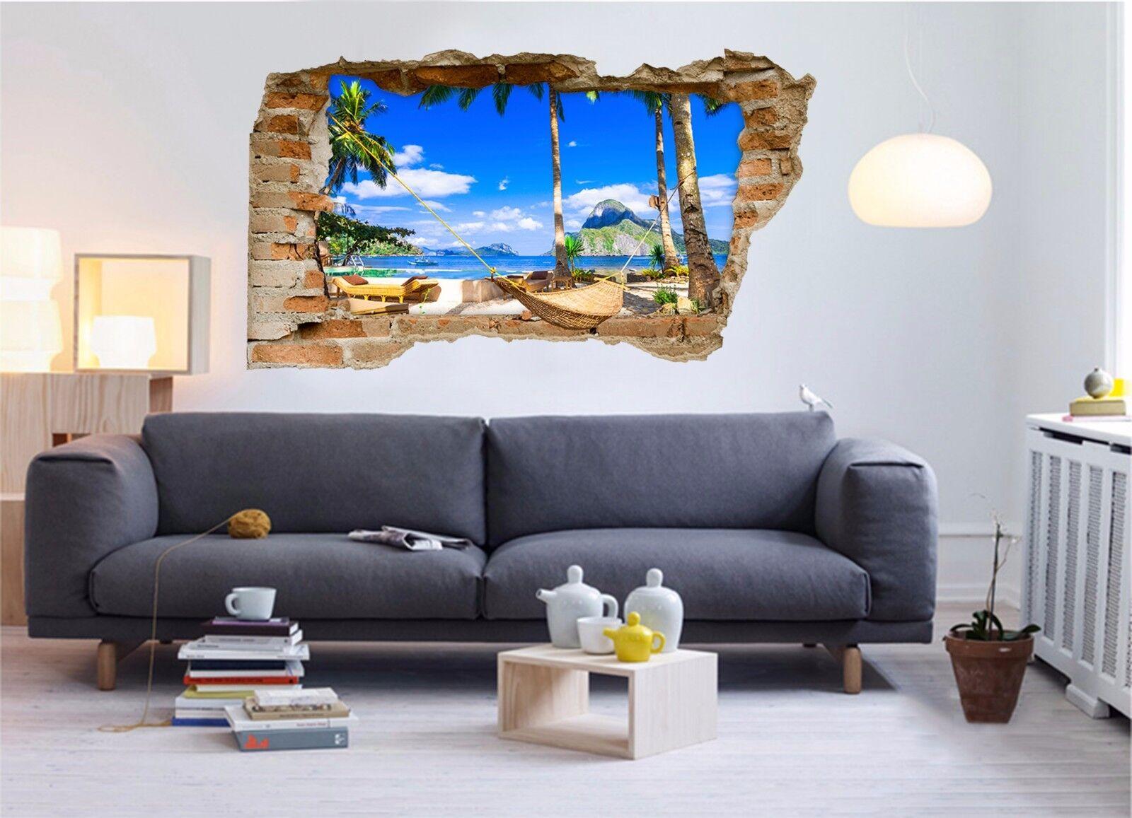 3D Swing Inseln 94  Mauer Murals Mauer Aufklebe Decal Durchbruch AJ WALLPAPER DE