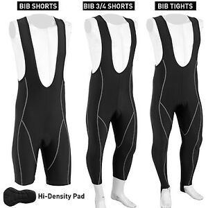 Mens-Cycling-3-4-Bib-Short-Bib-Tights-Shorts-Coolmax-Padding-Cycle-Bike-Black
