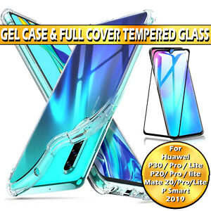 For Huawei Mate P20 30 Lite Pro P Smart Case / Full Cover Glass Screen Protector