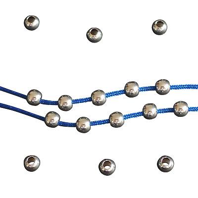 Quetschperlen Kugeln rund 2,5 mm 925 Silber 50 Stück Schmuck basteln DIY