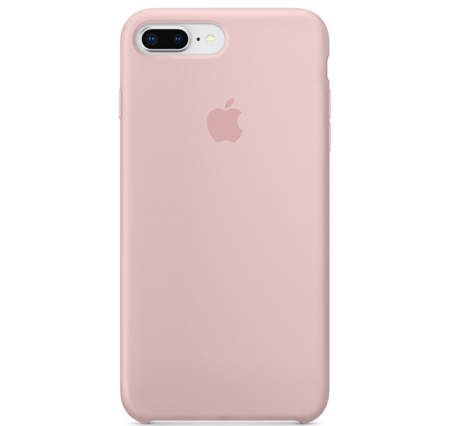 iPhone 8 / 7 PLUS Apple Original Echt Silikon Schutz Hülle - Rosa Sand