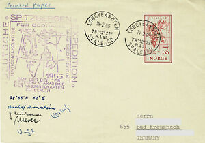 Polarpost DDR: DEUTSCHE SPITZBERGEN EXPEDITION der DDR - signiert - 1965