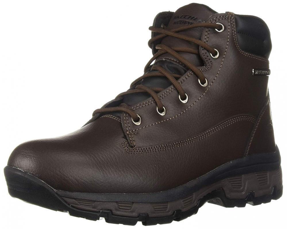 Skechers Men's Morson-Sinatro Hiking avvio Waterproof Leather Comfort Trail