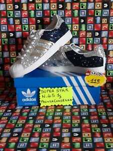 Details about Adidas Superstar with Glitter Silver and Glitter Blue Mirrored more show original title