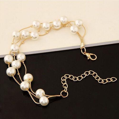 Perle argent plaqué collier boucles d/'oreilles bracelet bijoux de mariage