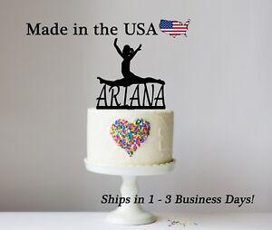 Superb Gymnast Cake Topper Gymnastics Splits Personalize Birthday Funny Birthday Cards Online Alyptdamsfinfo