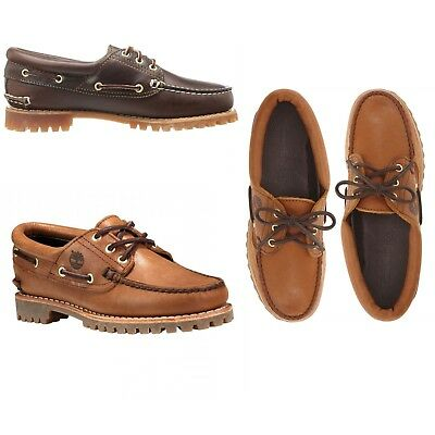 NUOVO Timberland Donna Scarpe da barca 3 Eye Heritage Noreen in Pelle Mocassini Oxfords | eBay