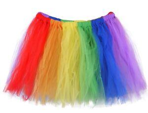 3fa6f19b75 Mens Ladies Bright Rainbow Tutu Comedy Stag Do Pride Fancy Dress ...