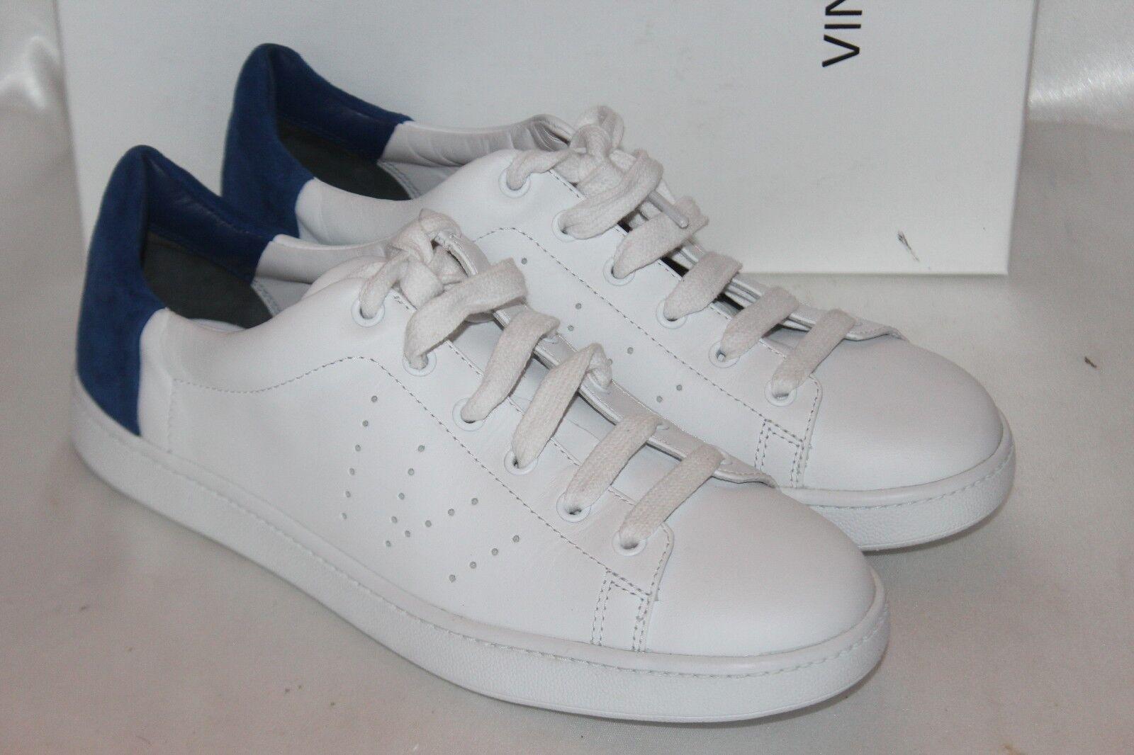 nuevo   nuevo En Caja  Vince Yeso Cuero Azul Cobalto Varin zapatilla de deporte Con Cordones 7.5 9.5