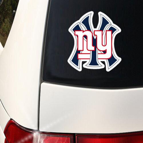 NY Teams Outdoor NY Yankees and NY Giants Fans Mashup Decal Indoor