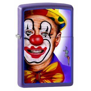 ZIPPO Lighter Clown Face by Mazzi - Purple Matte