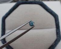 3.5mm Blue Diamond Loose Round 0.17 Carat