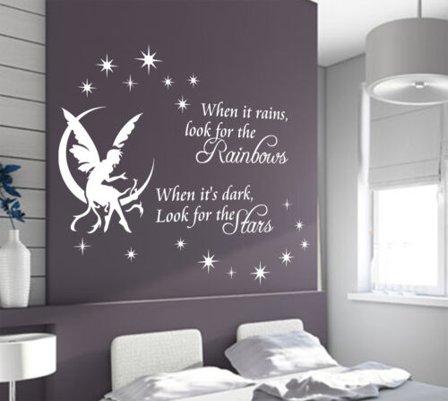 /'Rain Star Wall Quotes/' Art Vinyl Wall Sticker HIGH QUALITY Wall Decal Decor
