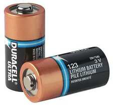 10 x Duracell CR123A, DL123A, PL123A, EL123A 3V Lithium Batteries
