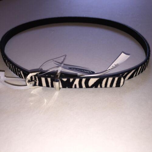 S M L Girl/'s Old Navy Brown Faux Fur Cheetah or Black /& White Zebra Belt