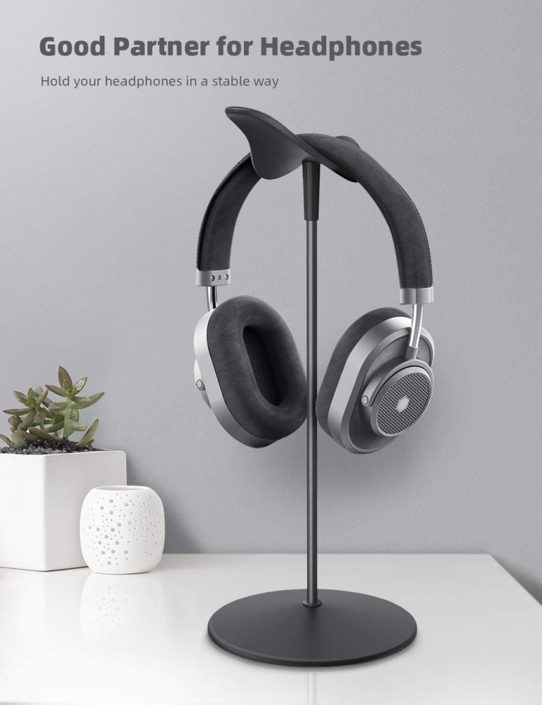Headphone Stand, Lamicall Headset Stand - Universal Holder, Black
