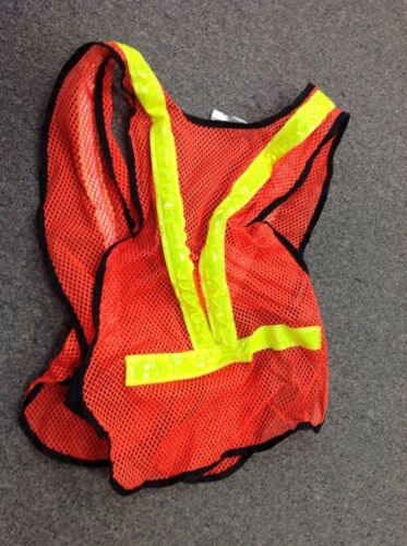 One Size LED Flashing Personal Safety Vest Made in USA Tested