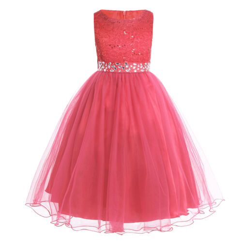 Flower Girl Dress Lace Wedding Bridesmaid Princess Dresses Kid Party Formal Gown
