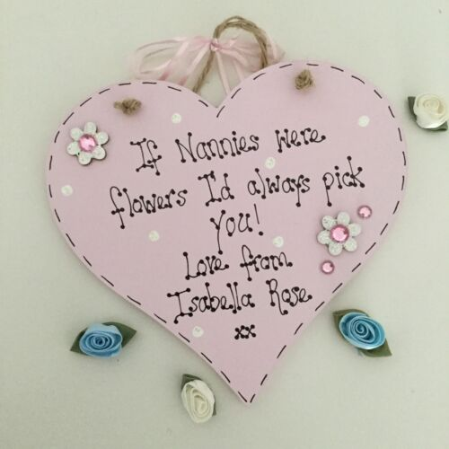 Personalised If Mums Were Flowers I/'d Pick You Heart Plaque Gift Auntie Friend