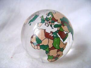 Murmeln Neu Einzeln Farbig Glas Weltkugel Karte Atlas 40mm Groß Marble Sammler Verkaufspreis Antikspielzeug