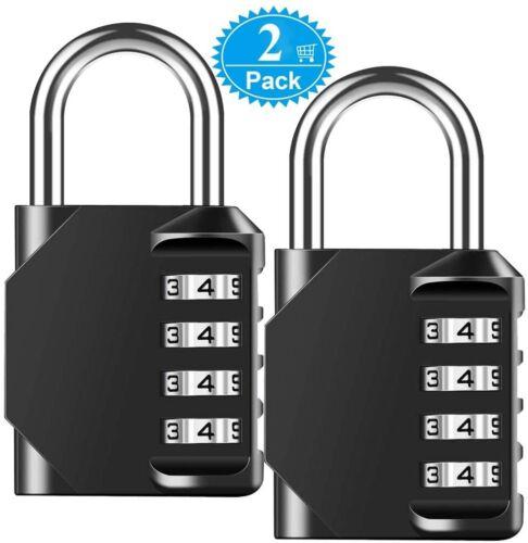 2PK Noir Combinaison Cadenas étanche à 4 chiffres École Gym Extérieur Shed Locker