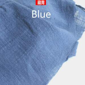 Solid-Cotton-Linen-Fabric-Natural-Flax-DIY-Material-Costume-Upholstery-100X137CM