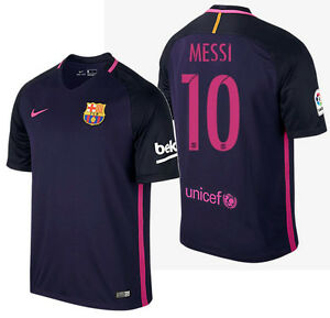 Image is loading NIKE-LIONEL-MESSI-FC-BARCELONA-AWAY-JERSEY-2016- f20c1d1df