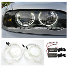 BMW E46 1998 - 2005 PROJECTOR HEADLIGHT CCFL ANGEL EYE KIT 6000K UK SELLER