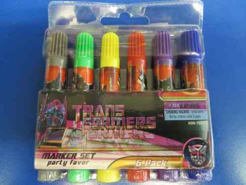 Transformers Dark of the Moon Movie Birthday Party Favor Gift Marker Set