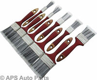 10 PIECE PAINT BRUSH SET NO BRISTLE LOSS DIY PAINTING HOME DECORATING BRUSHES