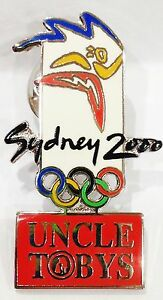 UNCLE-TOBYS-LOGO-TORCH-SYDNEY-OLYMPIC-GAMES-2000-PIN-BADGE-COLLECT-763