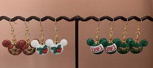 Handmade Glitter Mickey Earrings