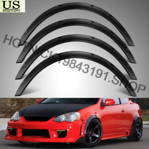 Universal-4pcs-PP-2-034-50mm-Fender-Flares-JDM-Over-Wide-Body-Wheel-Arches