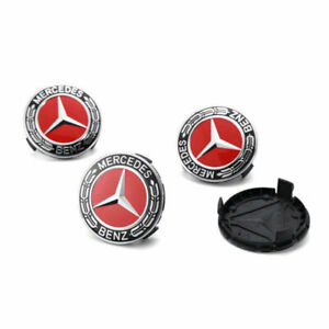 Mercedes-Benz-Radnabendeckel-Felgendeckel-Radkappe-Emblem-Nabendeckel-4X75mm-DE
