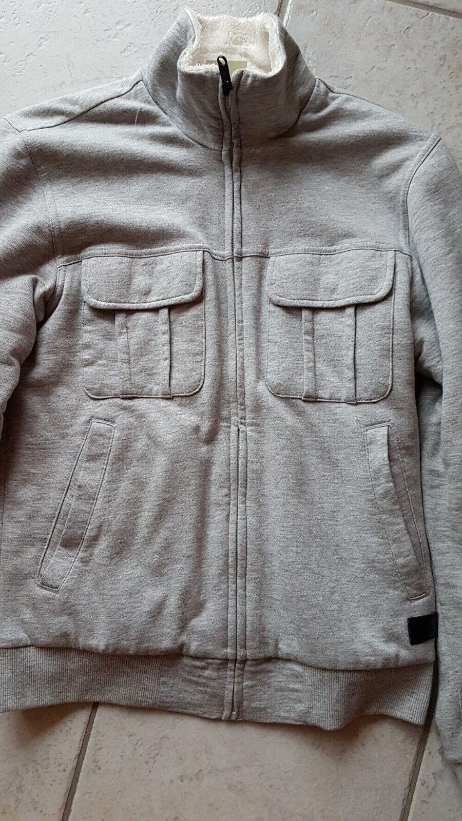 Adidas Neo Collegejacke Jacke warm gefüttert grau