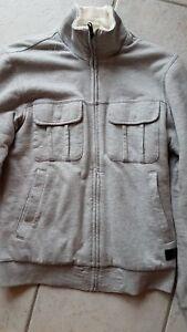 Details zu Adidas Neo Collegejacke Jacke warm gefüttert grau Gr. XS neuwertig
