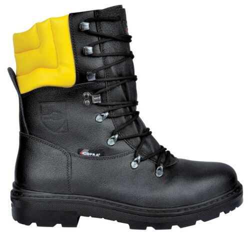 Cofra Woodsman BIS Chainsaw Protection Class 1 Black Steel Toe Cap Safety Boots