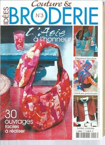 COUTURE-amp-BRODERIE-N-03-L-039-ASIE-A-L-039-HONNEUR-30-OUVRAGES-FACILES-A-REALISER