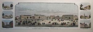 HANNOVER-Grosser-kolorierter-Holzstich-von-ca-1870