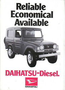Details about Daihatsu F50JK & F50V 2530cc Diesel 4 Wheel Drive original UK  Sales Brochure